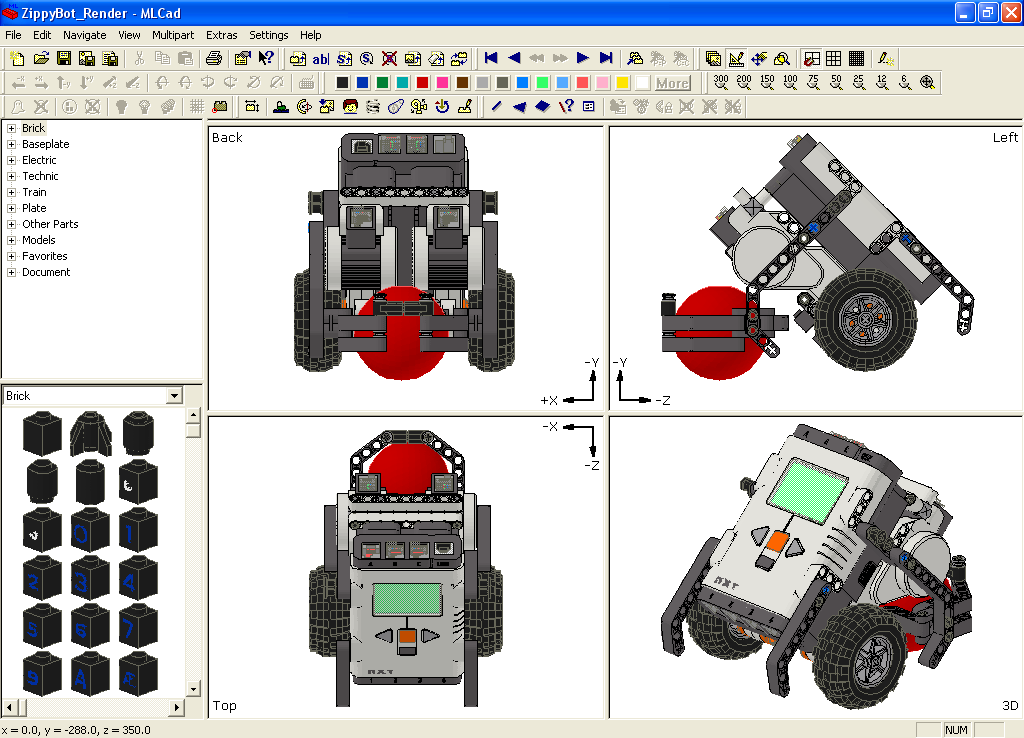 Computer Aided Design Cad The Unofficial Lego Mindstorms Nxt